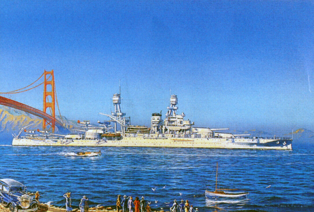 James Flood Limited Edition Print - USS Pennsylvania, San Francisco