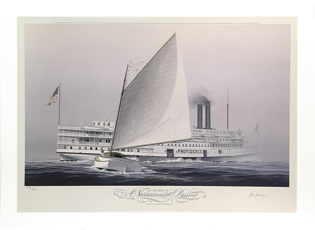 John Mecray Limited Edition Print - A Narragansett Passing