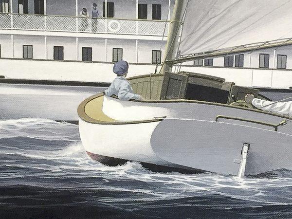 John Mecray Limited Edition Print - A Narragansett Passing