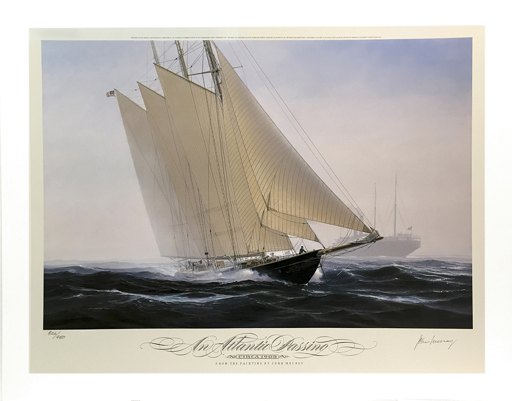 John Mecray Limited Edition Print - An Atlantic Passing