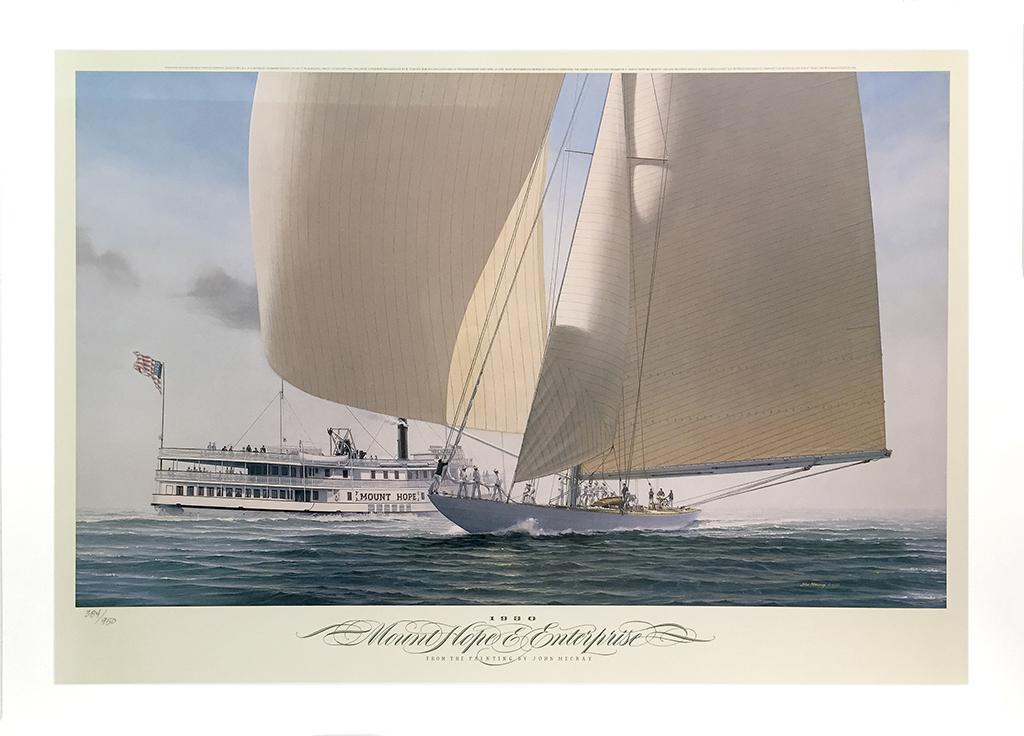 John Mecray Limited Edition Print - Mt. Hope & Enterprise