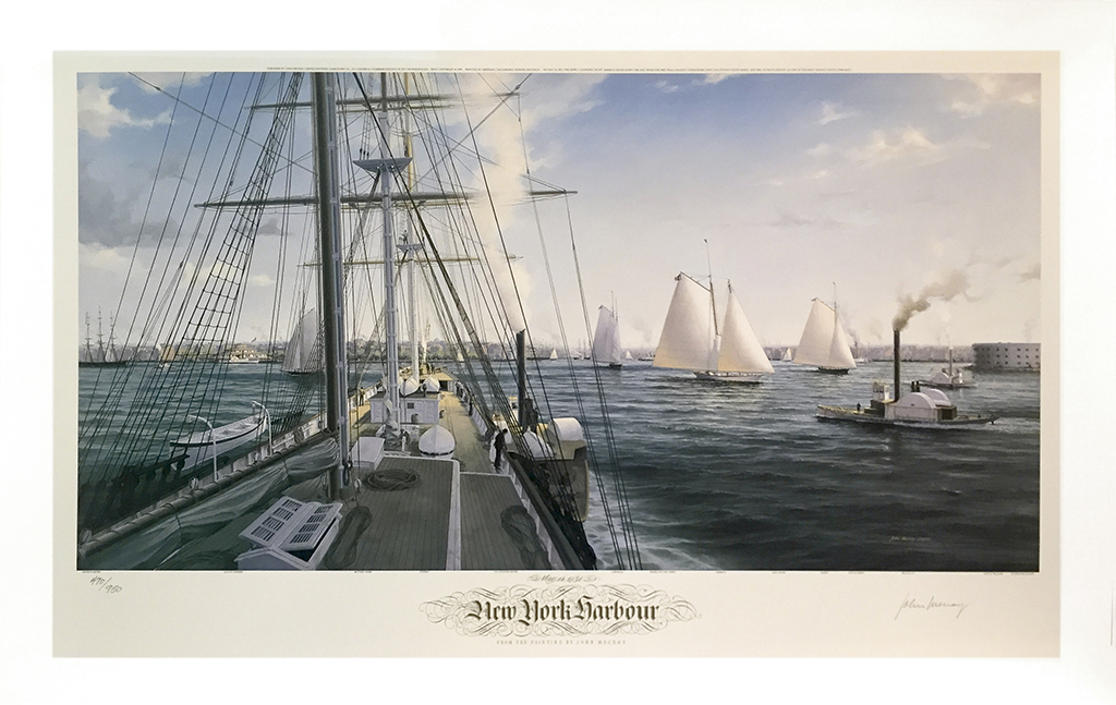 John Mecray Limited Edition Print - New York Harbour