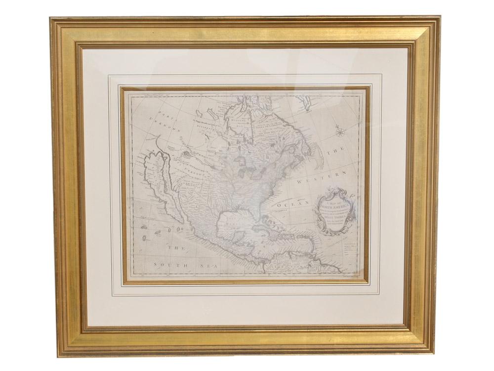 Antique Map of North America c. 1745