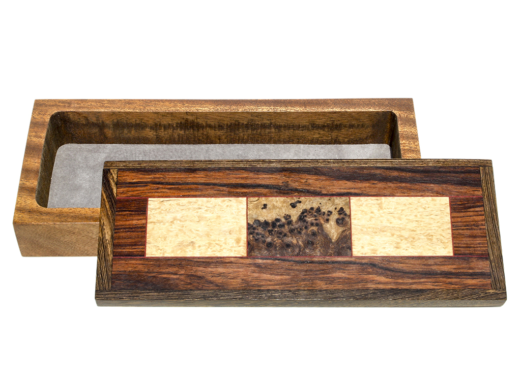 Jeffrey Seaton Signature Series Wooden Box - Russian Masur Birch and Amboyna Burl