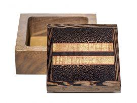 Jeffrey Seaton Signature Series Wooden Box - Black Palm and Walnu