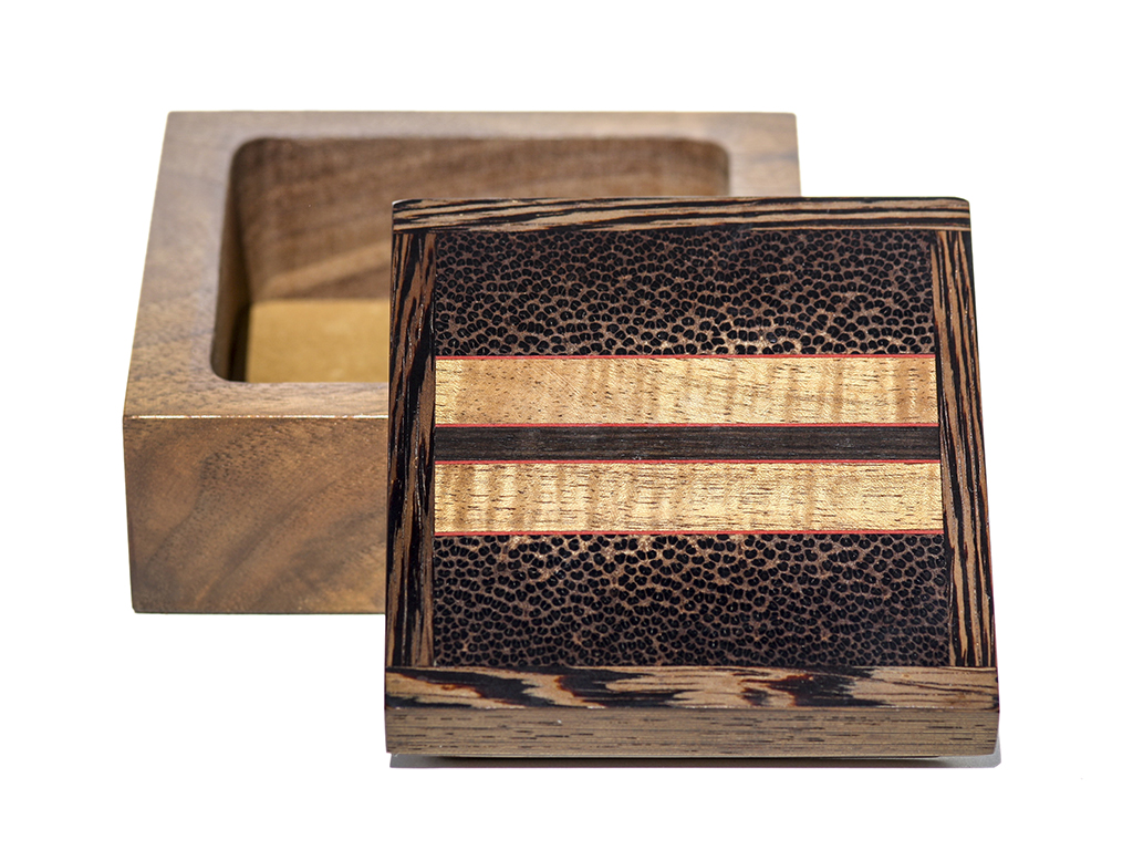 Jeffrey Seaton Signature Series Wooden Box - Black Palm and Walnu