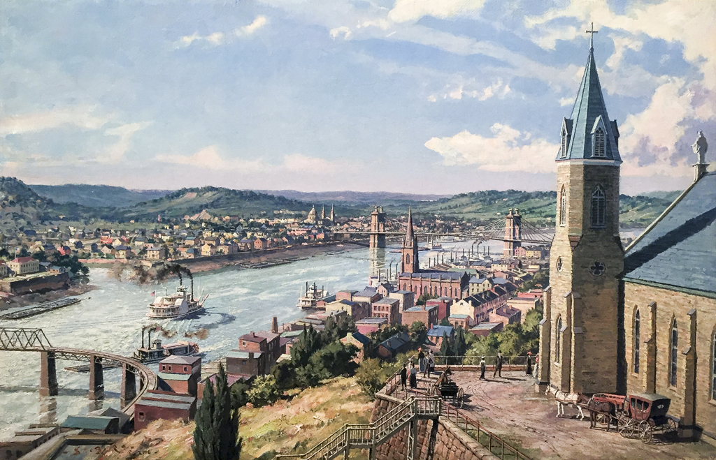 John Stobart - Cincinnati: A View from Mt. Adams c. 1875