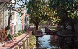 John Stobart - Georgetown: Lock No. 4 on the Chesapeake and Ohio Canal