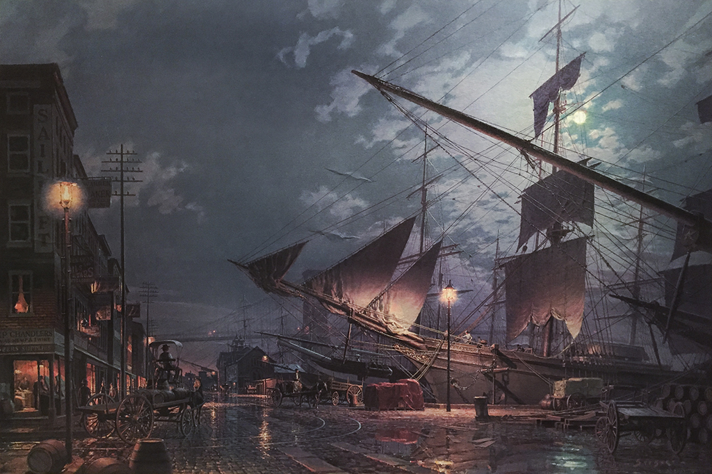 John Stobart - New York: East River Arrival c. 1884