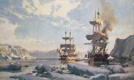 "John Stobart - Whaling In The Arctic: The ""Charles W. Morgan"" in 1884"