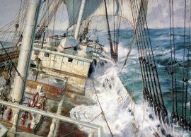 John Stobart - A Down Easter Approaching Cape Horn