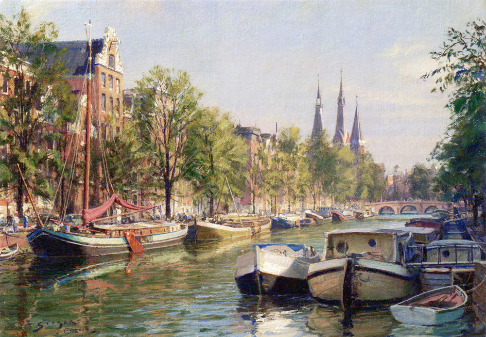John Stobart - Amsterdam: The Herengracht
