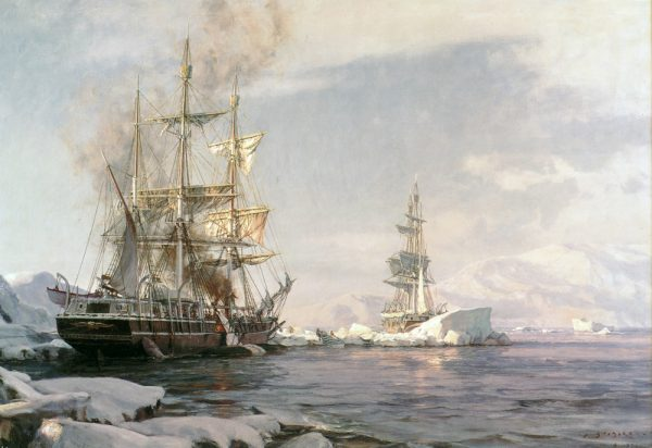 "John Stobart - Arctic Whaling: The Whaling Bark ""Sunbeam"" Cutting in Among the Floes"