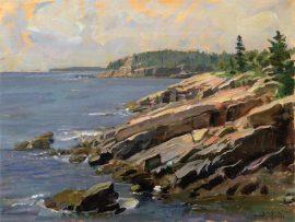 John Stobart - Bar Harbor: At the Edge of Acadia National Park
