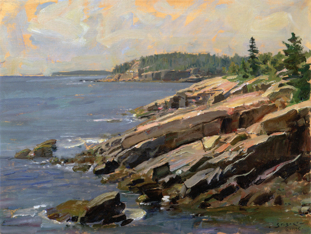 John Stobart - Bar Harbor: At the Edge of Acadia National Park