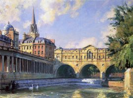 John Stobart - Bath: The Pultney Bridge Over The River Avon