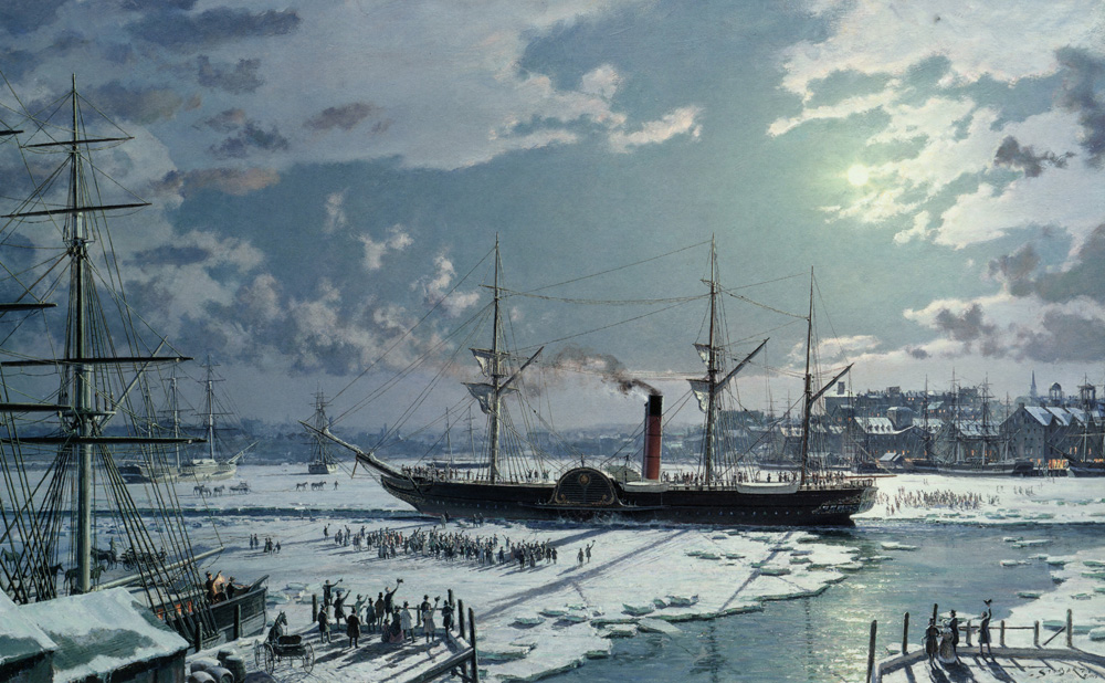 "John Stobart - Boston: R.M.S. ""Britannia"" Departing the Icebound Harbour"