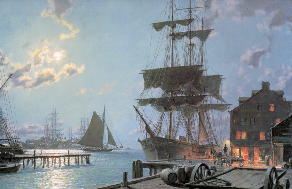 John Stobart - Boston: Waiting for the Dawn