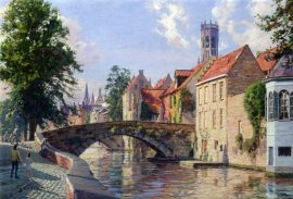 John Stobart - Bruges: A View Along the Groene Rei