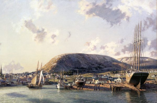 John Stobart - Camden: A View of the Shipbuilding Port and Mt. Battie