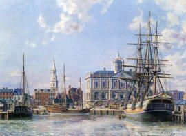 John Stobart - Charleston: Landing Cotton Alongside The Exchange