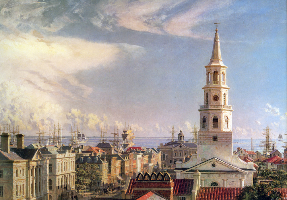 John Stobart - Charleston: Over the Rooftops in 1870