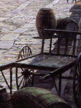 John Stobart - Charleston: Prioleau Street in 1870