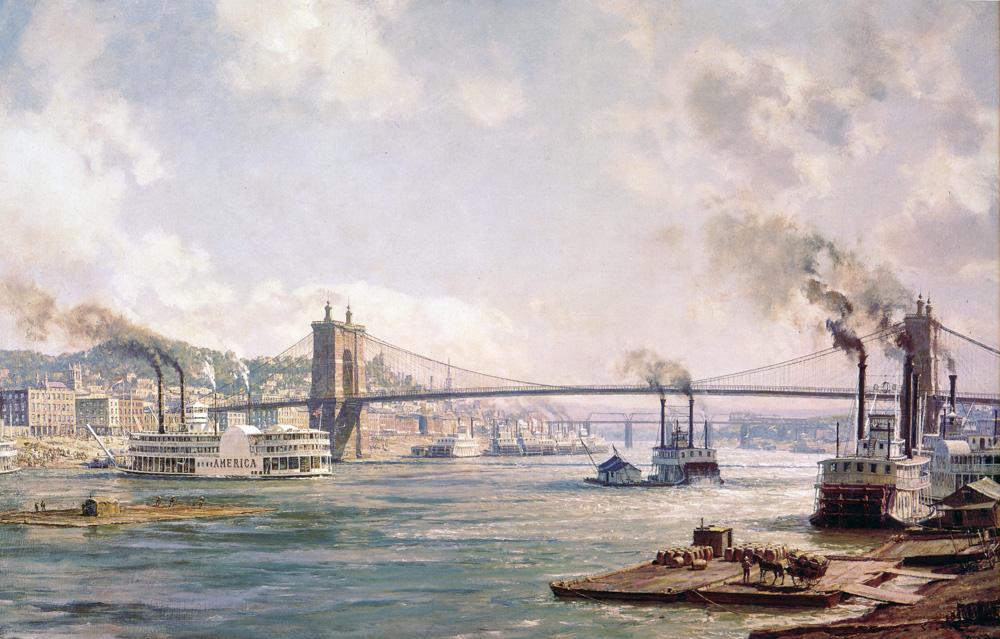John stobart cincinnati queen city of the west in 1876 for Cooks jewelry iowa city
