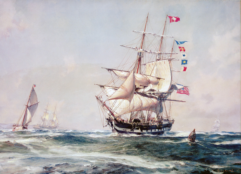 "John Stobart - ""Daniel Webster"" of Boston off Sandy Hook"