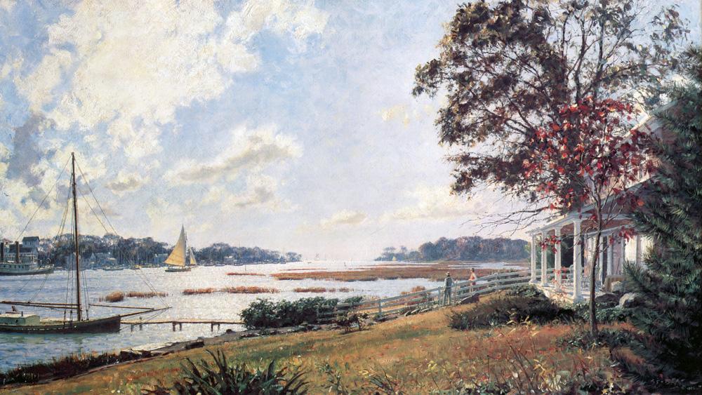 John Stobart - Five Mile River, Rowayton c. 1920