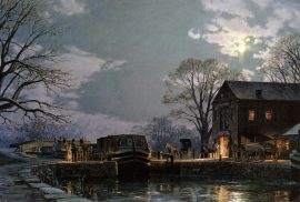 John Stobart - Georgetown: Preparing for A Moonlight Departure