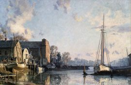 John Stobart - Greenwich: A View of the Lower Landing, Cos Cob
