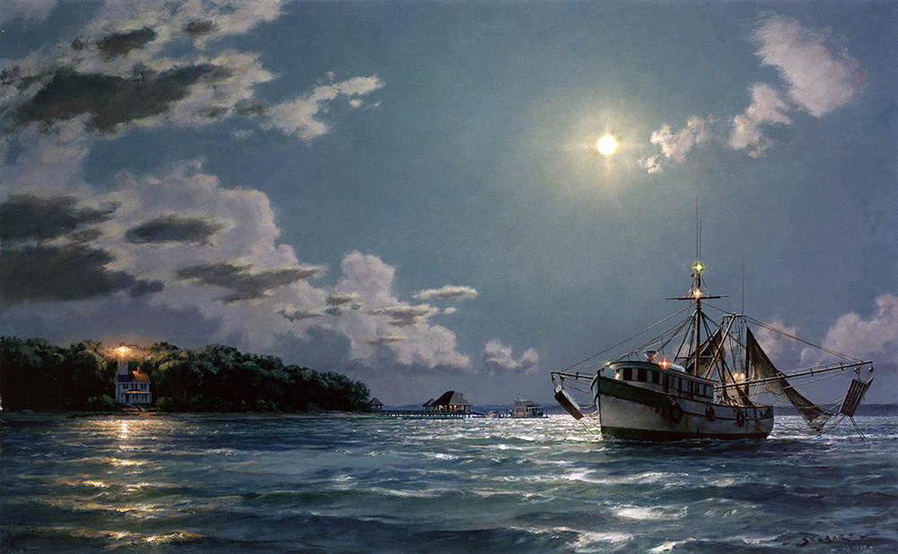John Stobart - Haig Point: A View of the Lighthouse from Harbourtown
