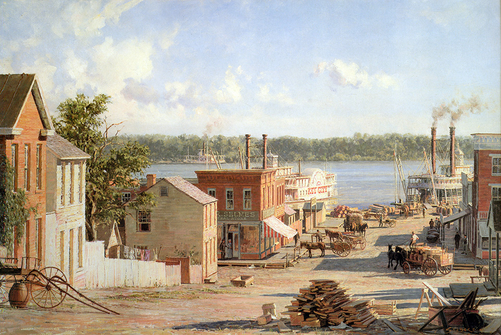 John Stobart - Hannibal: A View from Mark Twain's Boyhood Home in 1841