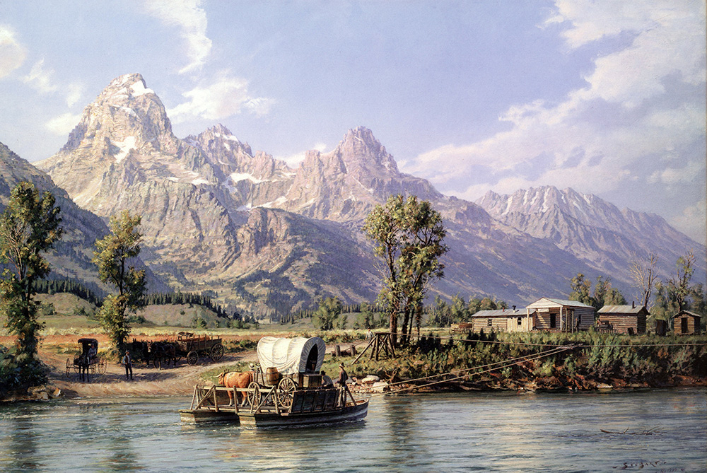 John Stobart - Jackson Hole: A View of the Grand Tetons