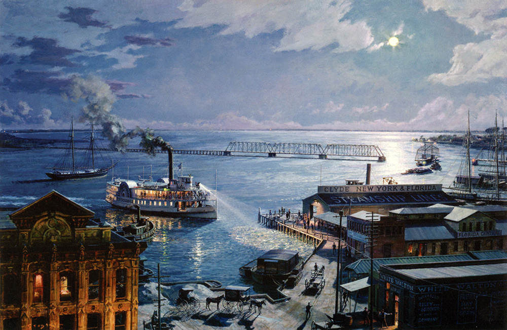 "John Stobart - Jacksonville: The ""City of Jacksonville"" Returning Home"