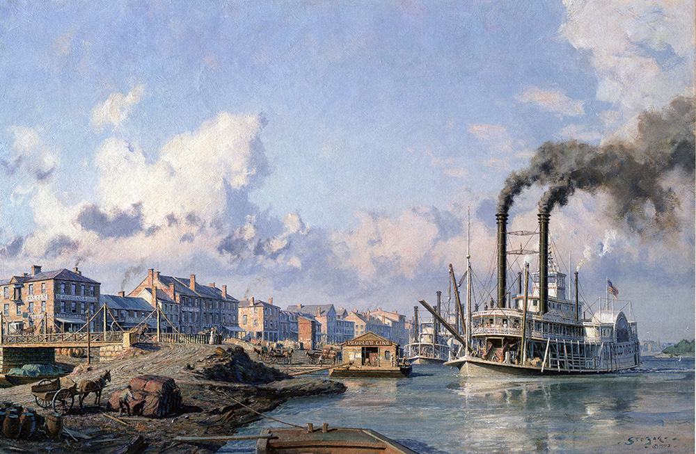 "John Stobart - Louisville: The People's Line Packet ""Wild Wagoner"""