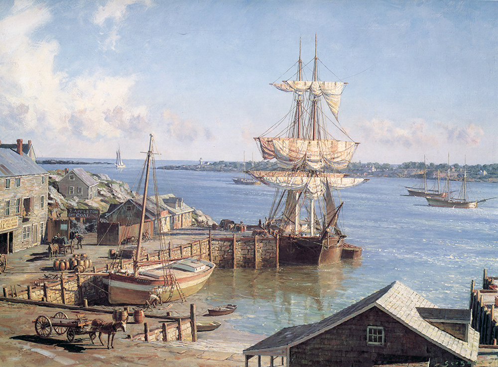 John Stobart - Marblehead: Appleton's Wharf in 1850