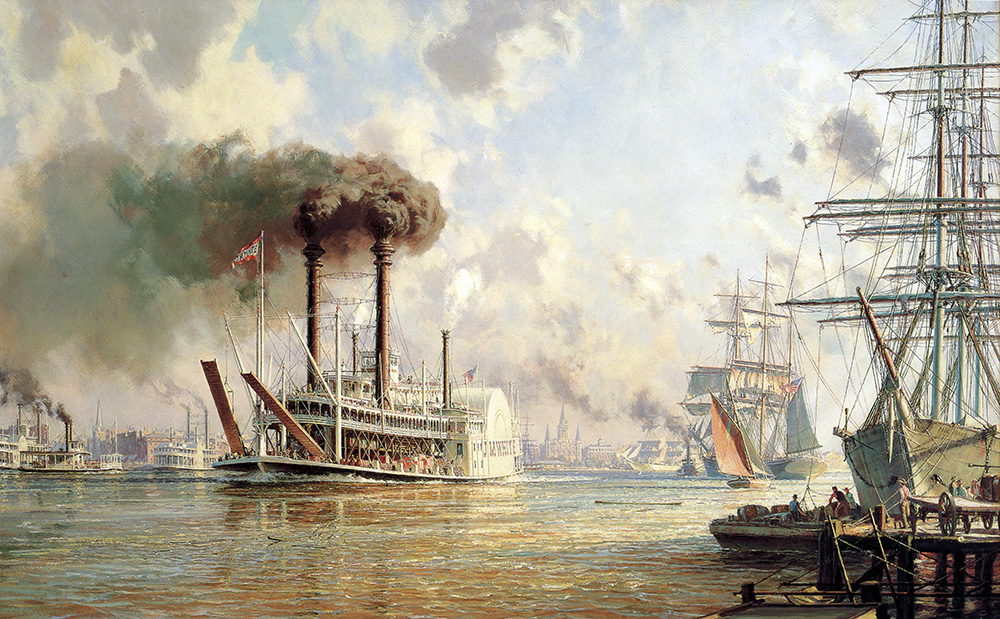 "John Stobart - New Orleans: The ""J.M. White"" Mistress of the Mississippi"
