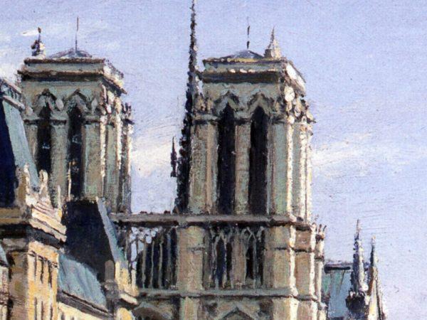 John Stobart - Paris: Notre Dame and Pont St. Michel
