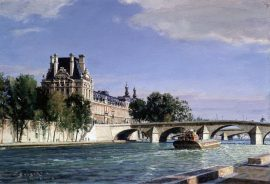 John Stobart - Paris: The Louvre at Point Royal