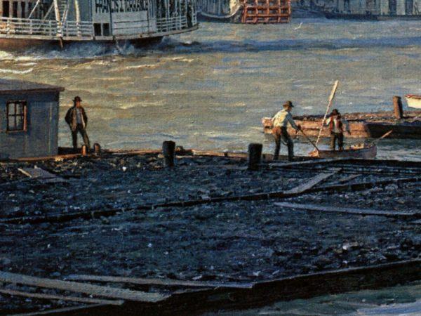 John Stobart - Pittsburgh: The Monongahela Waterfront in 1900