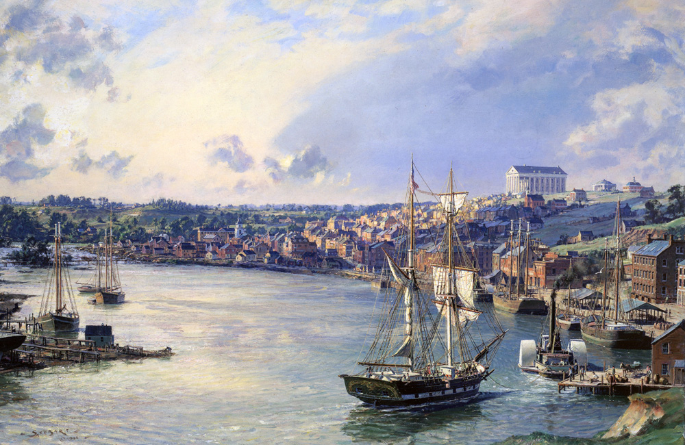 John Stobart - Richmond: A View of the City from the Banks of the James River