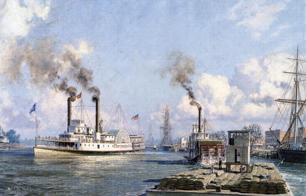 "John Stobart - Sacramento: The Celebrated River Steamer ""Chrysopolis"""