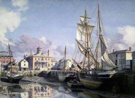 John Stobart - Salem: Derby Wharf and the Custom House c. 1825