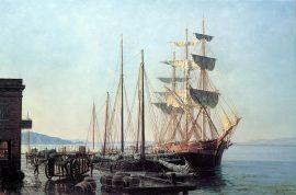 John Stobart - San Francisco: Cowell's Wharf in 1866