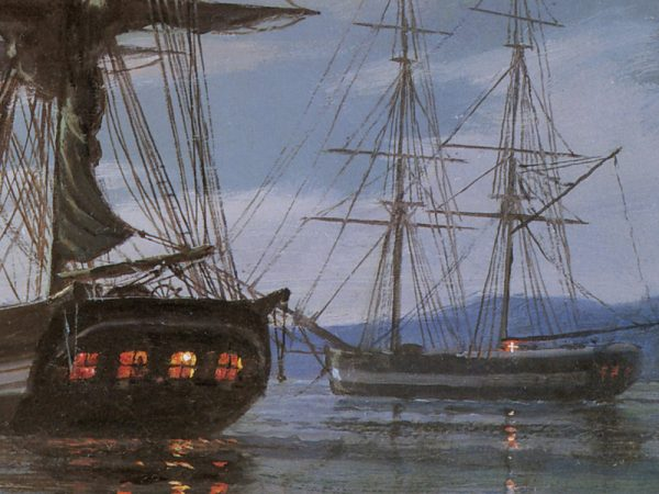 John Stobart - San Francisco: Embarking for the Voyage Home in 1850
