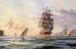 "John Stobart - San Francisco: The Clipper Ship ""Dashing Wave"""
