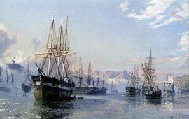 John Stobart - San Francisco: The Gold Rush Harbor in 1849