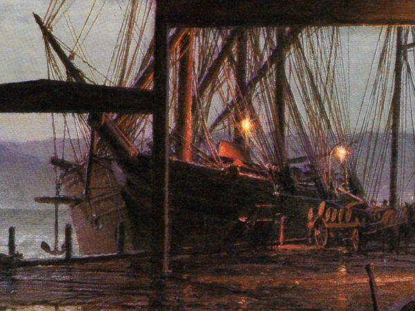 John Stobart - San Francisco: Vallejo Street Wharf in 1863